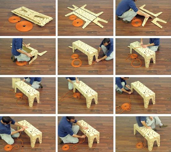 Как сделать из бумаги скамейку для кукол