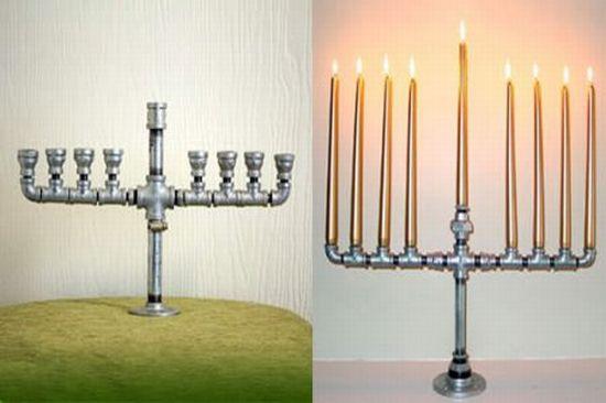 Менора - светильник из труб