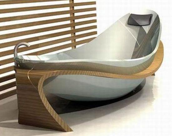 Ванна повторяющий форму человеческого тела