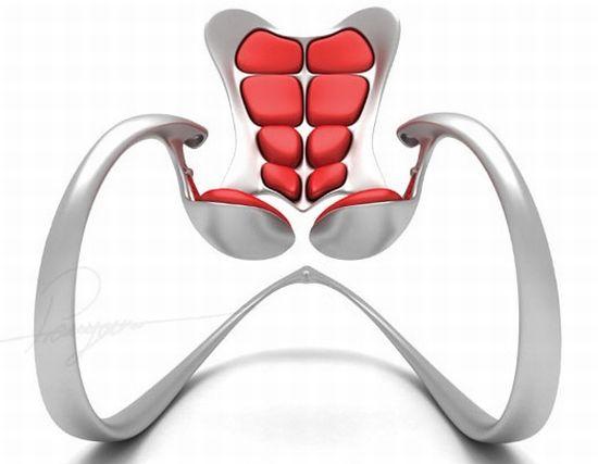 Кресло-качалка в виде тазобедренной кости