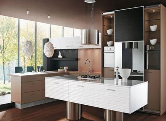 Как оформить интерьер кухни в коричневом цвете