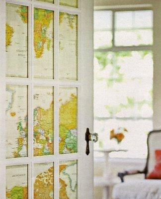 Географические карты для интерьера
