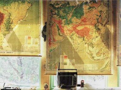 Использование географических карт для интерьера