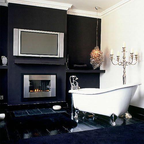 Черный цвет в интерьере ванной комнаты
