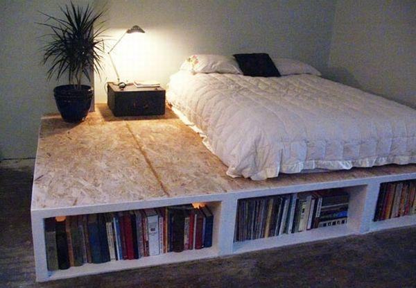 Книжный шкаф под кроватью