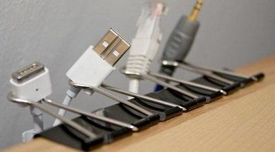 Идеи упорядоченного хранения проводов и кабелей.