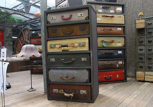 Идеи использования старых чемоданов в дизайне.