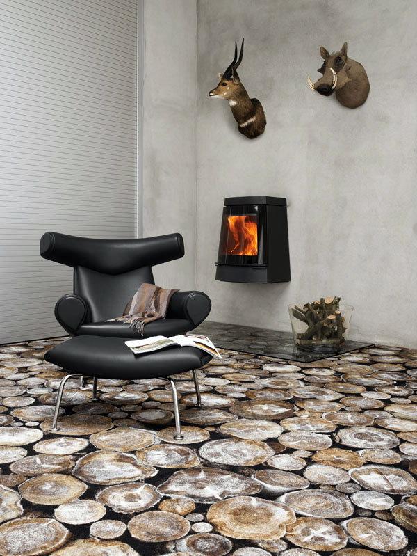 Ковры из камня и дерева - Фотографические ковры фирмы Ege, Дания.