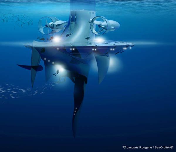 SeaOrbiter – небоскреб для исследования океанских глубин.