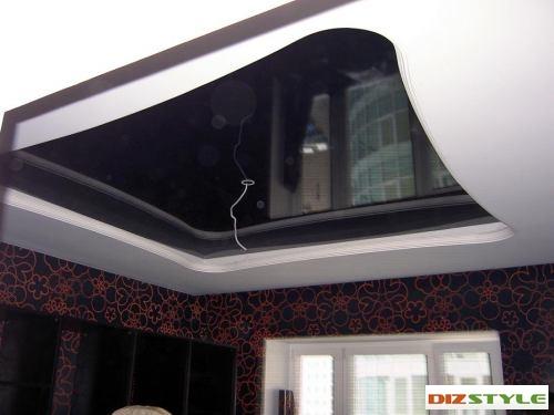 Натяжной потолок в гипрочном коробе