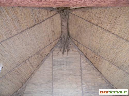 внутрянка тростниковым полотном