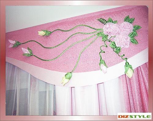 Цветы из ткани для украшения штор