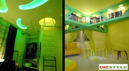 Детская комната в двух уровнях