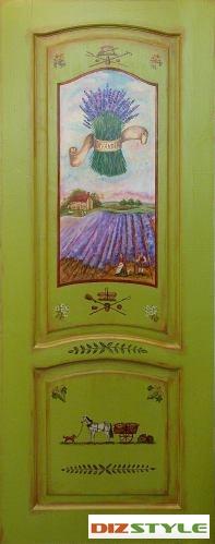 Роспись двери Прованс Лаванда