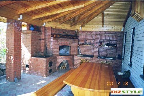комплекс барбекю - печь - мойка - столешница